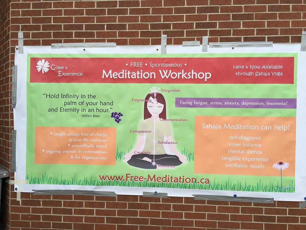 Sahaja Yoga meditation banner