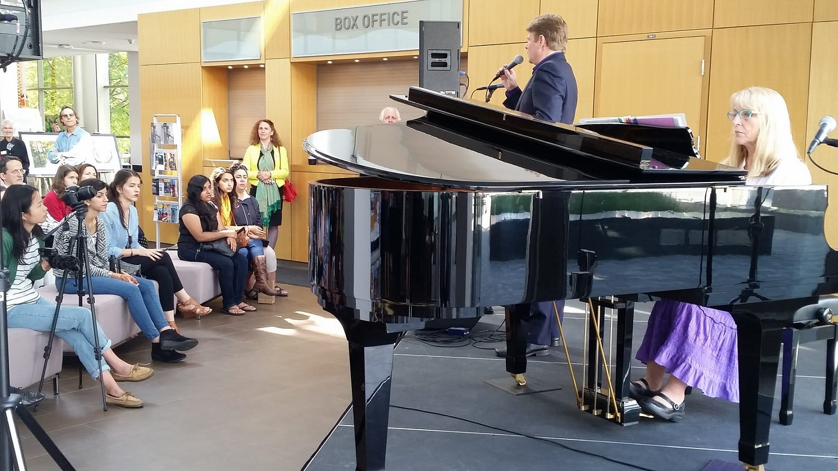 Tim Bruce -performing at Art Perfroming Centre Theatre - Lobby -Canada Culture Days Sept 27 2015
