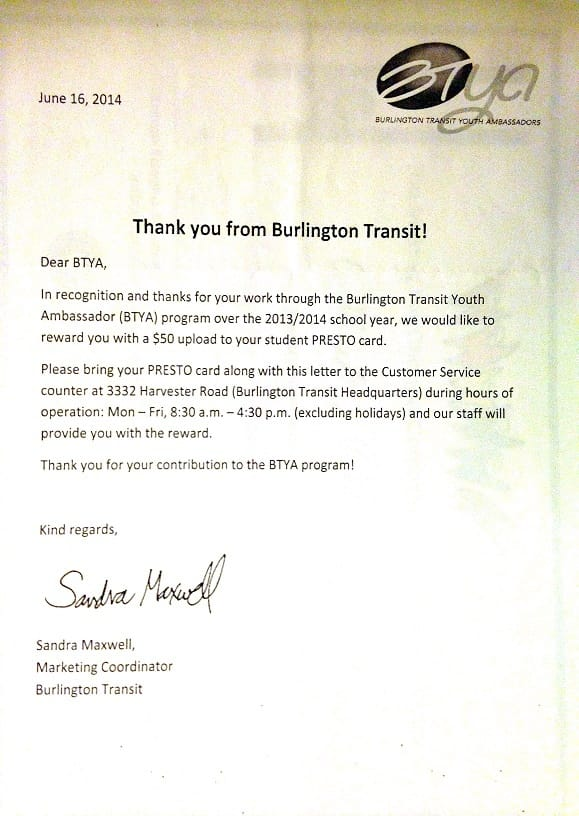 Burlington transit thanks-small