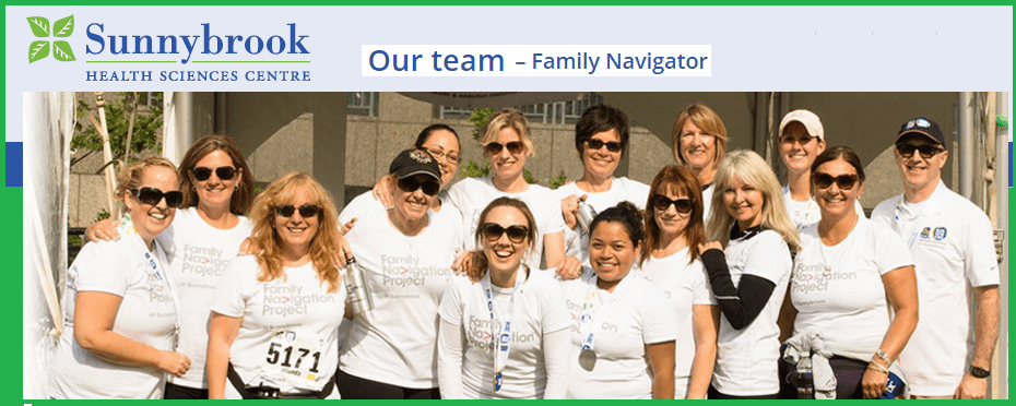 Sunnybrook Family Project Navigation team