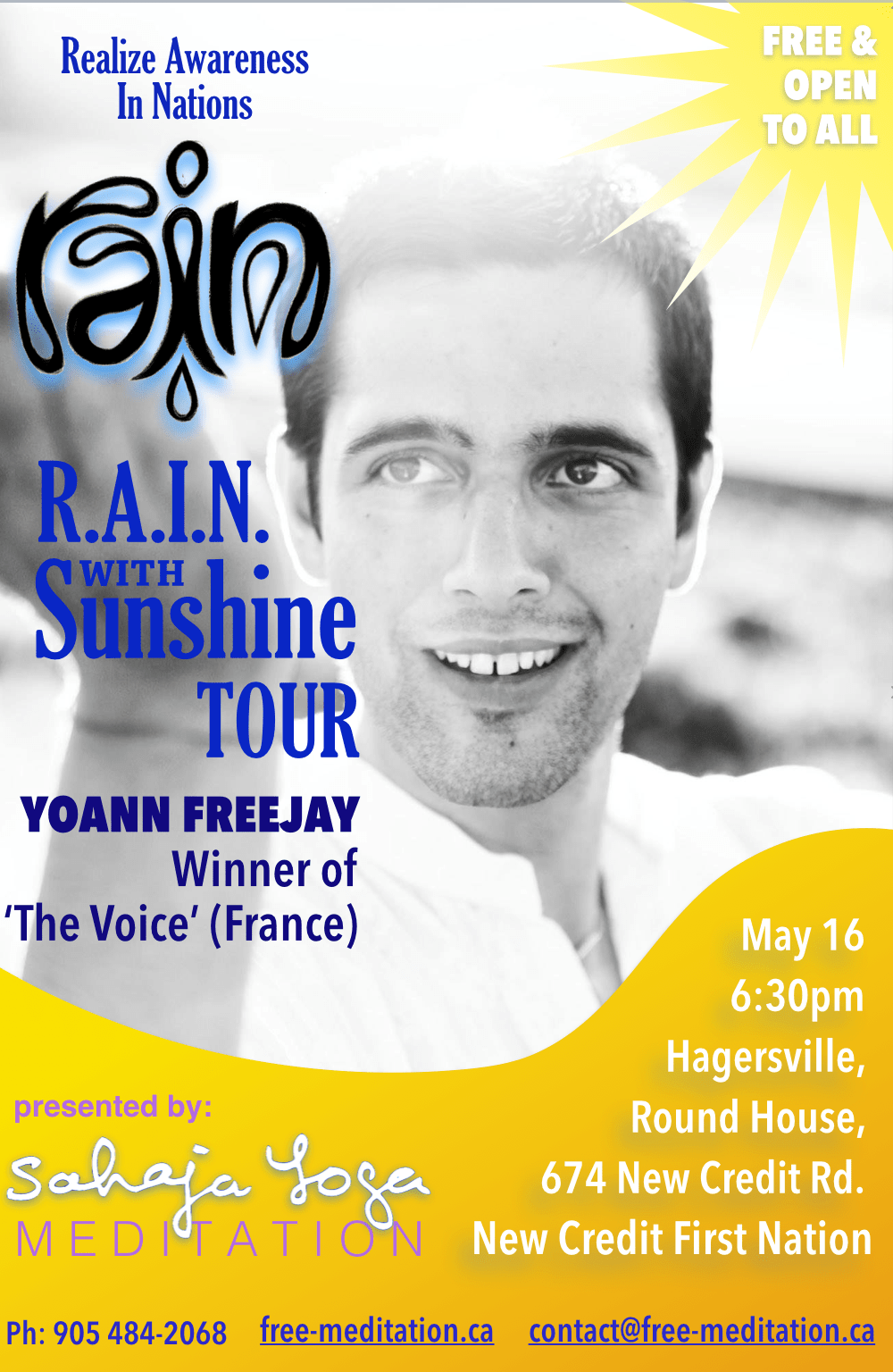 (#1) R.A.I.N. with SunShine Tour: The Voice of France is Singing @ RoundHouse  (R.A.I.N. TO HEAL M.E. -> Mother Earth)