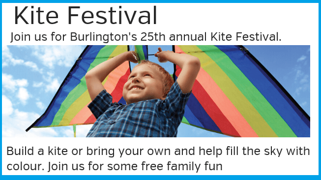 Inspirational Quote & INVITATION to Kite Festival's 25th Anniversary in Burlington (FREE Outdoors Family Event)