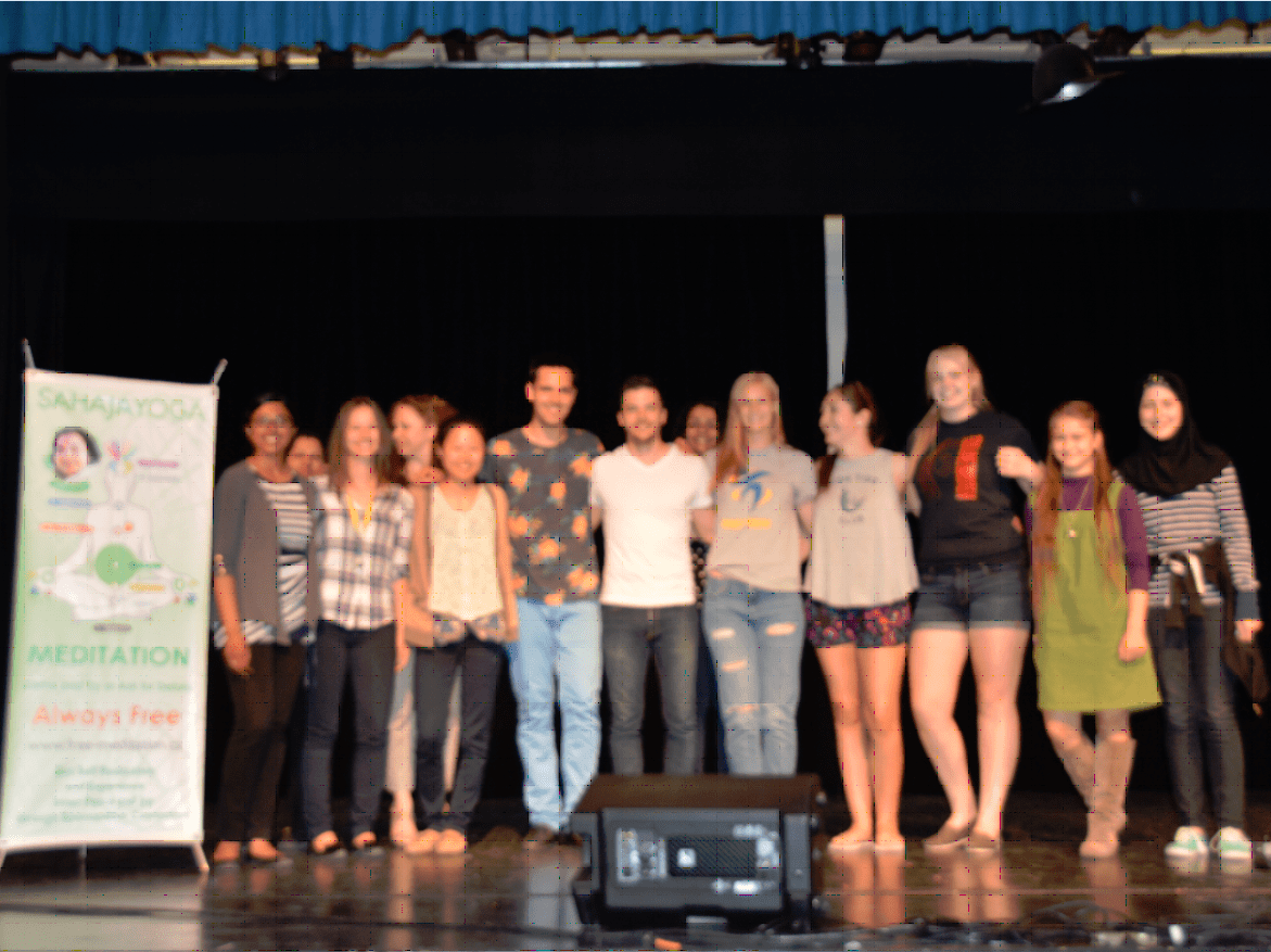 Yoann Frejay with fans at White Oaks highschool1