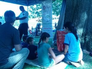 (Feedback from Joseph Brant Day Festival 2016) Meditation as Dedication to Civic Day: Self-Realization Teachers and Volunteer Yogis Meditators make Good Patriots :-)