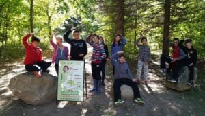 """(watch) Youth become Global Personalities by """"Be""""ing in the Forest — Students reconnect with Nature through Meditation!"""