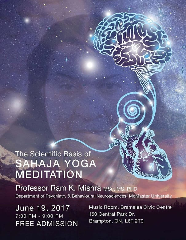 "Today's Event: ""The Scientific Basis of Sahaja Yoga"" with Professor Dr. Mishra from McMaster University"