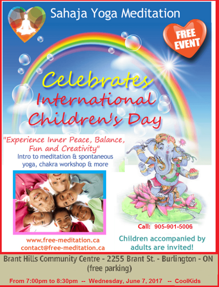 """Cool Kids have Fun and Inner Peace"" –  Free Public Event for Children, Parents and Friends"