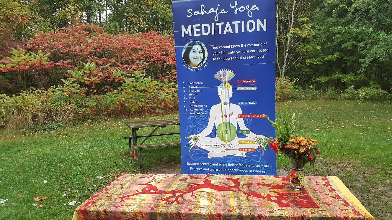 Meditate with the Canadian Fall and Hugging Trees?! Who says Teenagers Students are not into it? Meditation Helps!