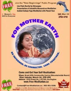 """Read more about the article Join the """"New Beginnings"""" Public Program: Meditation, Live Flute Music, Science and .. More on Saturday, March 24 2018, from 2pm-4pm"""