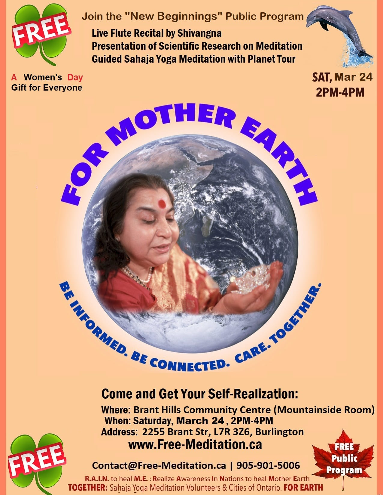 "Join the ""New Beginnings"" Public Program: Meditation, Live Flute Music, Science and .. More on Saturday, March 24 2018, from 2pm-4pm"