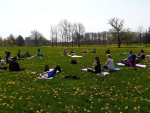 "Take a Peek at How we Meditate and ""Do Yoga"" Outdoors this Summer @ Sunday Classes in Halton"