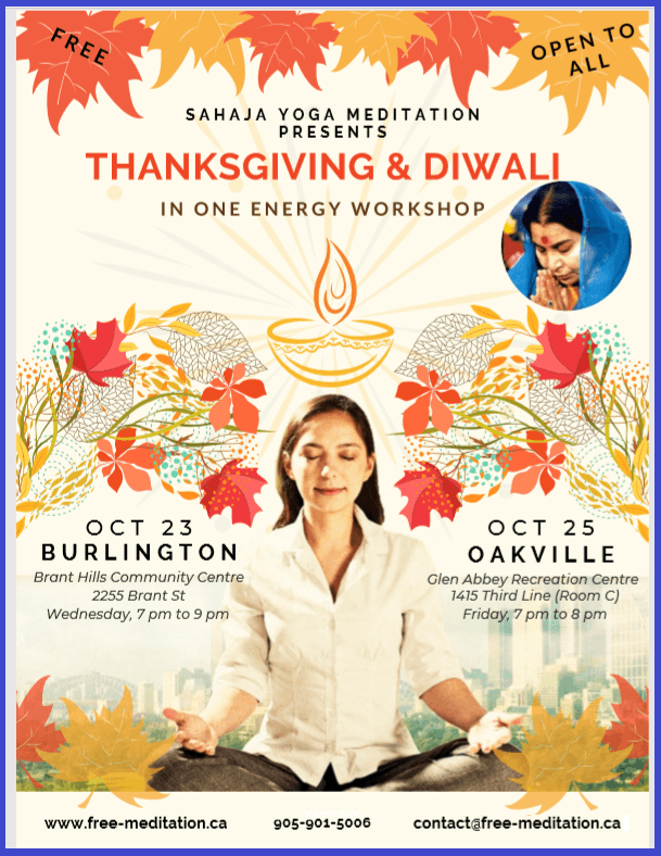 Join Thanksgiving and Diwali Spiritual Celebrations in Halton (this week)