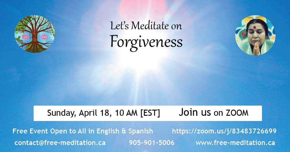 Let's Meditate on Forgiveness on Sunday, April 18
