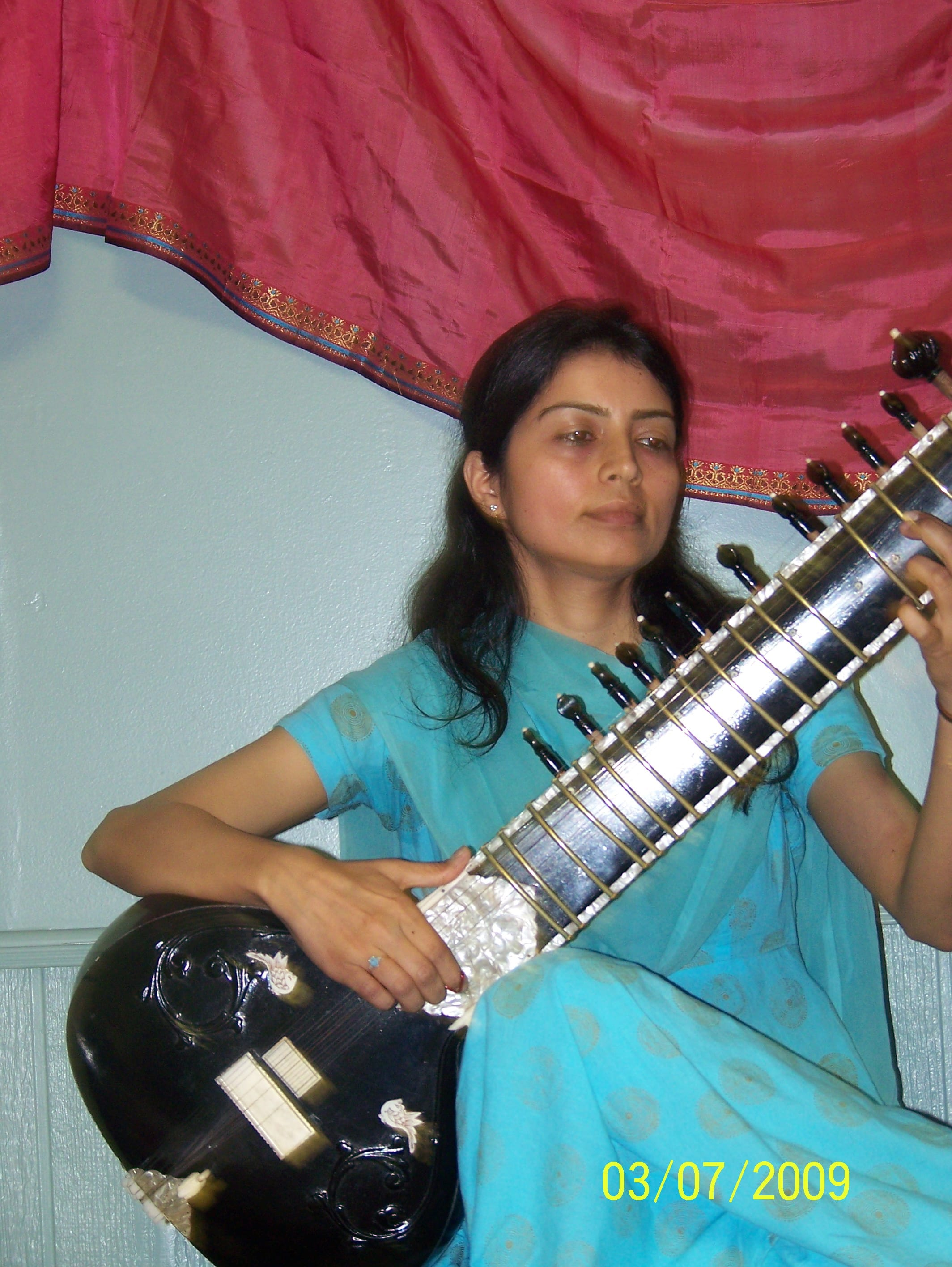 Seema at Sitar - Sahaja Yoga Special Class with Tabla & Sitar performance 2009