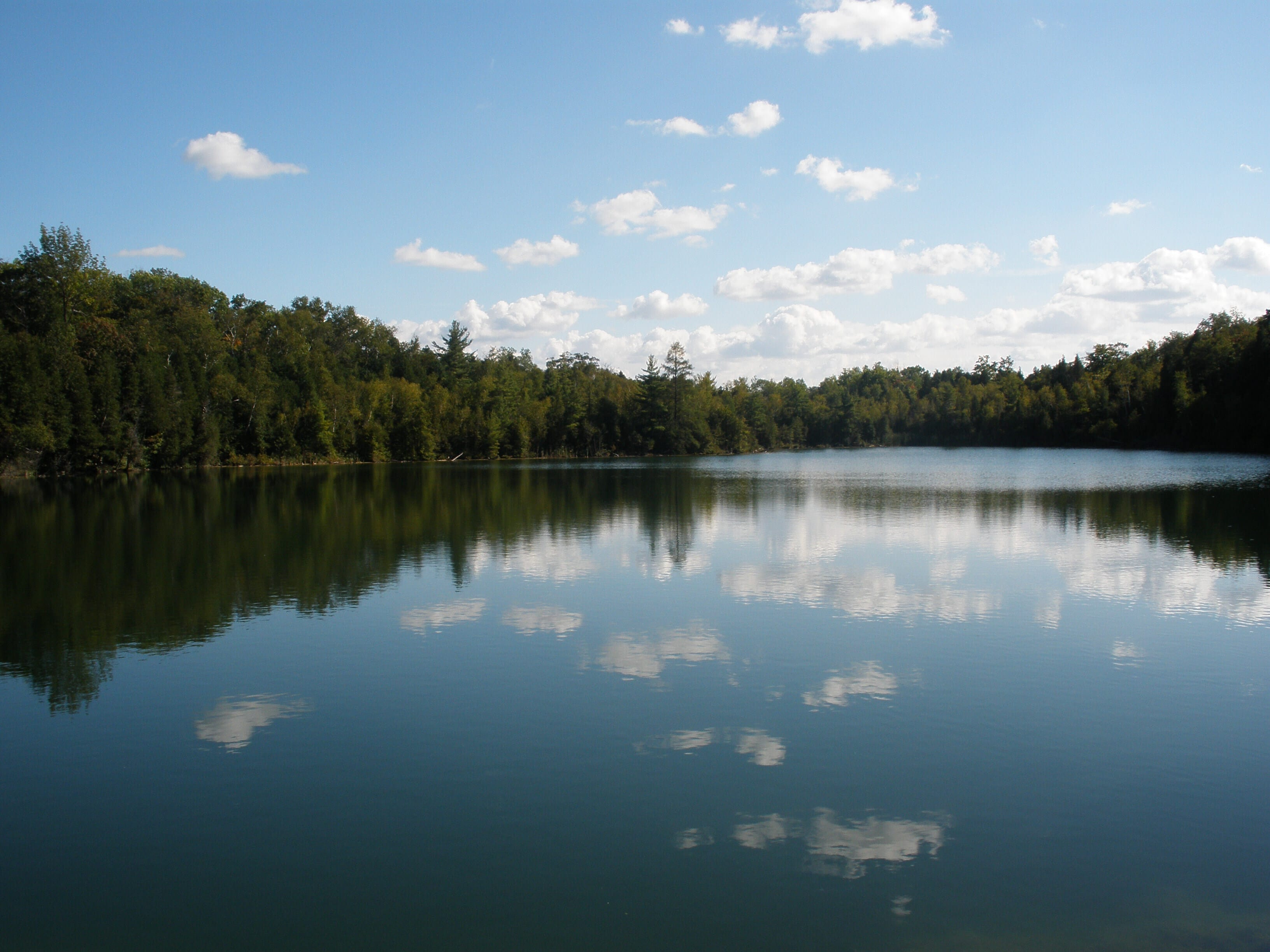 Crawford Lake - Sky and Lake and Earth in Oneness - Mirroring each other