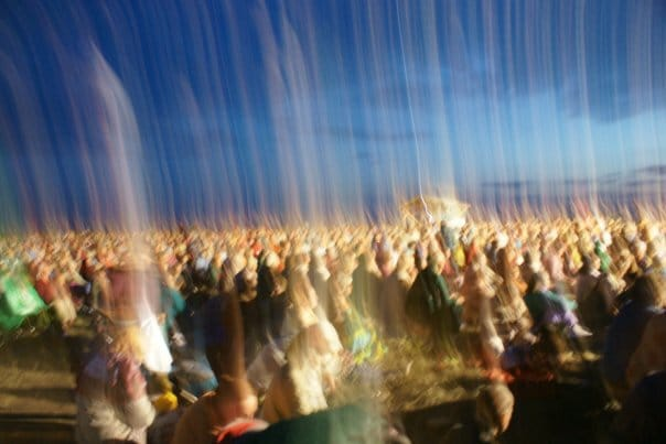 Miracle Photo - Collective Sahaja Yoga Meditation - Outdoors -International Sahaja Yoga Seminar in Russia 2009