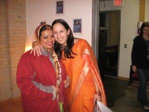 Anandita in Canadian outfit .. with Sujata, Hamilton Sahaja Yogini