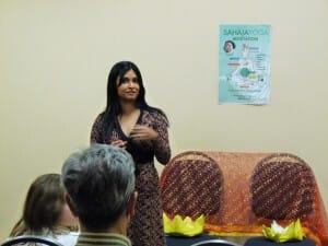 Rafeena - initiator of this program; introducing Sahaja Yoga at dr. Karelis Clinic