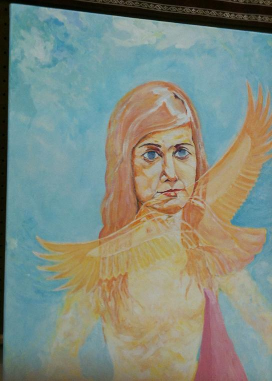 Painting by Adrian - artist from Burlington sahaja yoga class