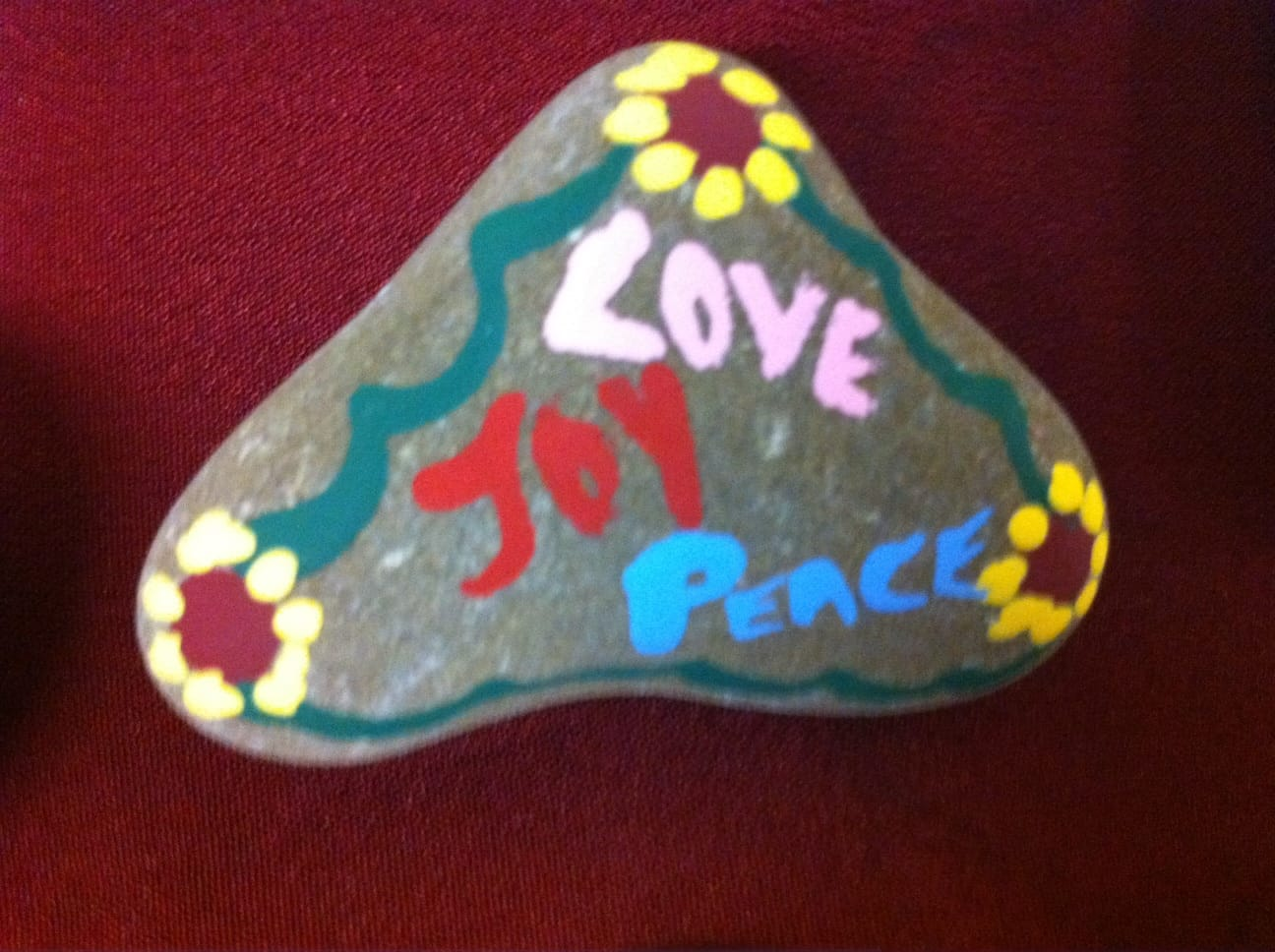Debbie's Creative Heart - her gift & part of her presentation about Heart Chakra