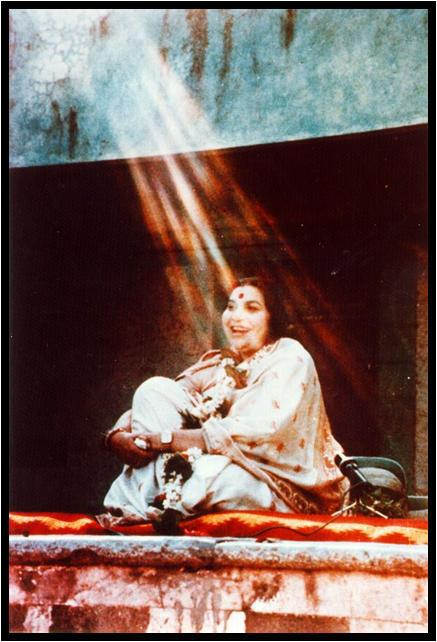 Rain of Vibrations over Shri Mataji - the founder of Sahaja Yoga Meditation