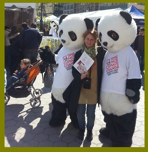 Pandas and Children at Earth Day 2013 in NY