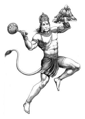 hanumana from sahaj mantra book