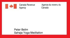 Canada Revenue Agency and Sahaja Yoga meditation -April 18 2013