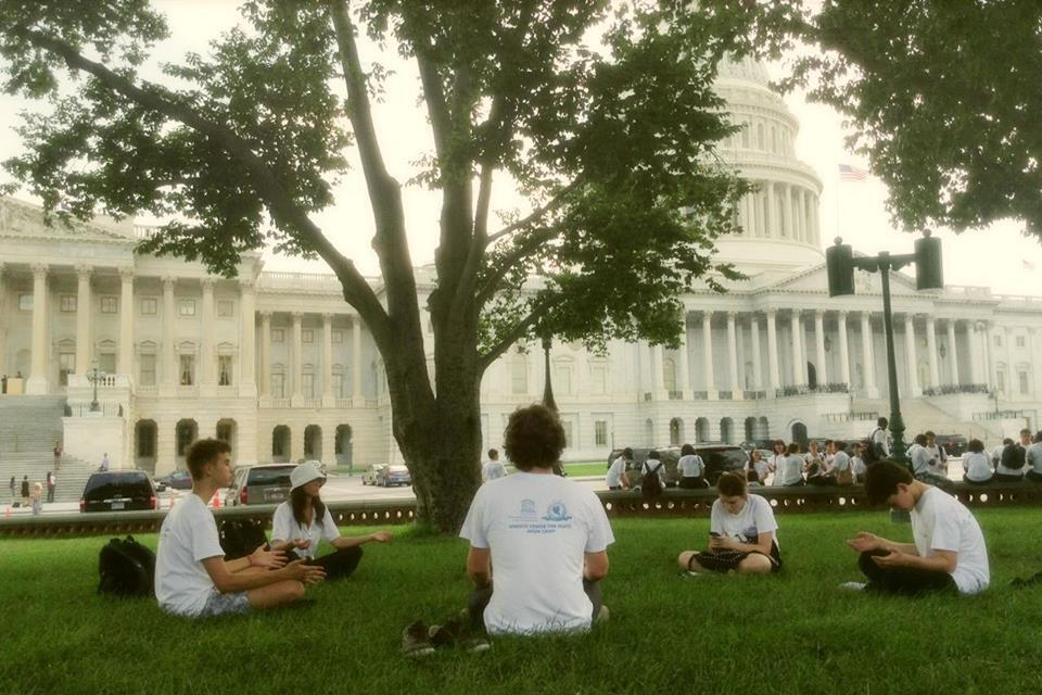 Meditation at Washington DC near the Capitol