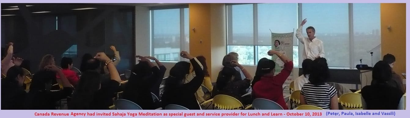 Photo - Peter from Sahaja Yoga Meditation - Lunch and Learn CRA - October 10 2013