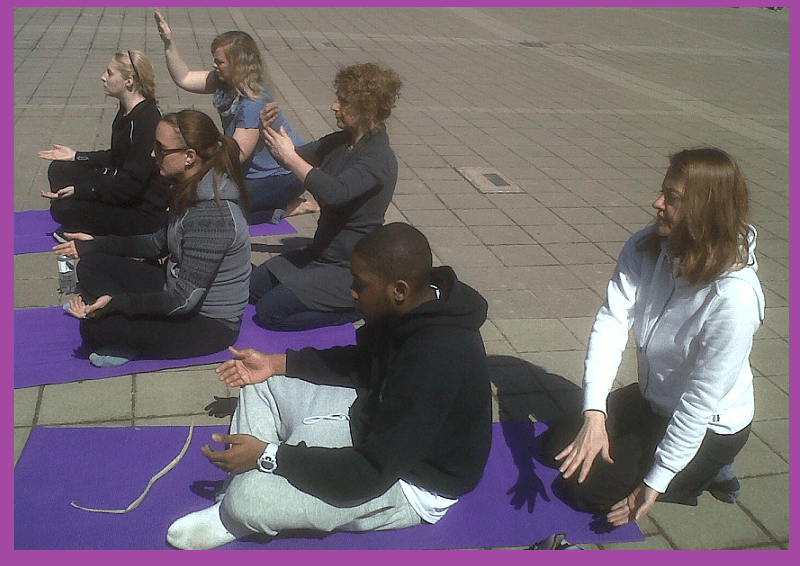 Chakra workshop at Niagara College-Spring Fling 2013 with Sahaja Yoga meditation
