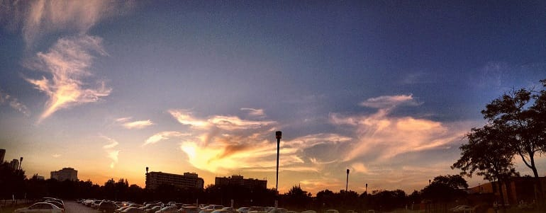 Enjoy the Sky photo captured after Adam's Day event - our group of yogis marveled on Creator's Genesis - again