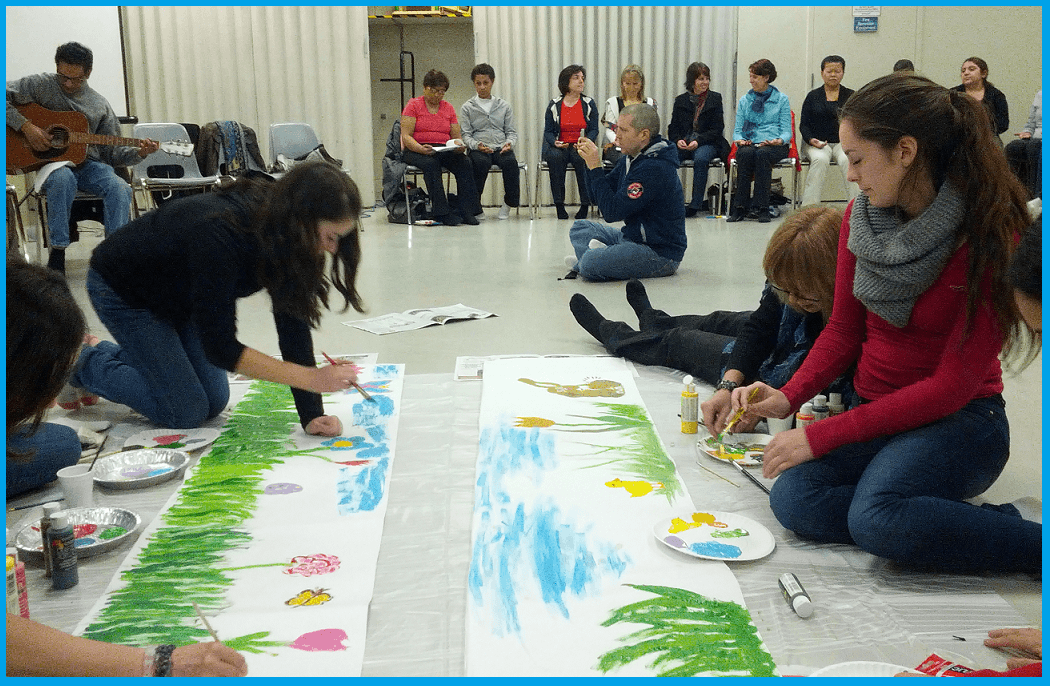 "Burlington Class - Easter Seminar with focus on ""Spontaneous Creativity in a meditative state"" artwork"