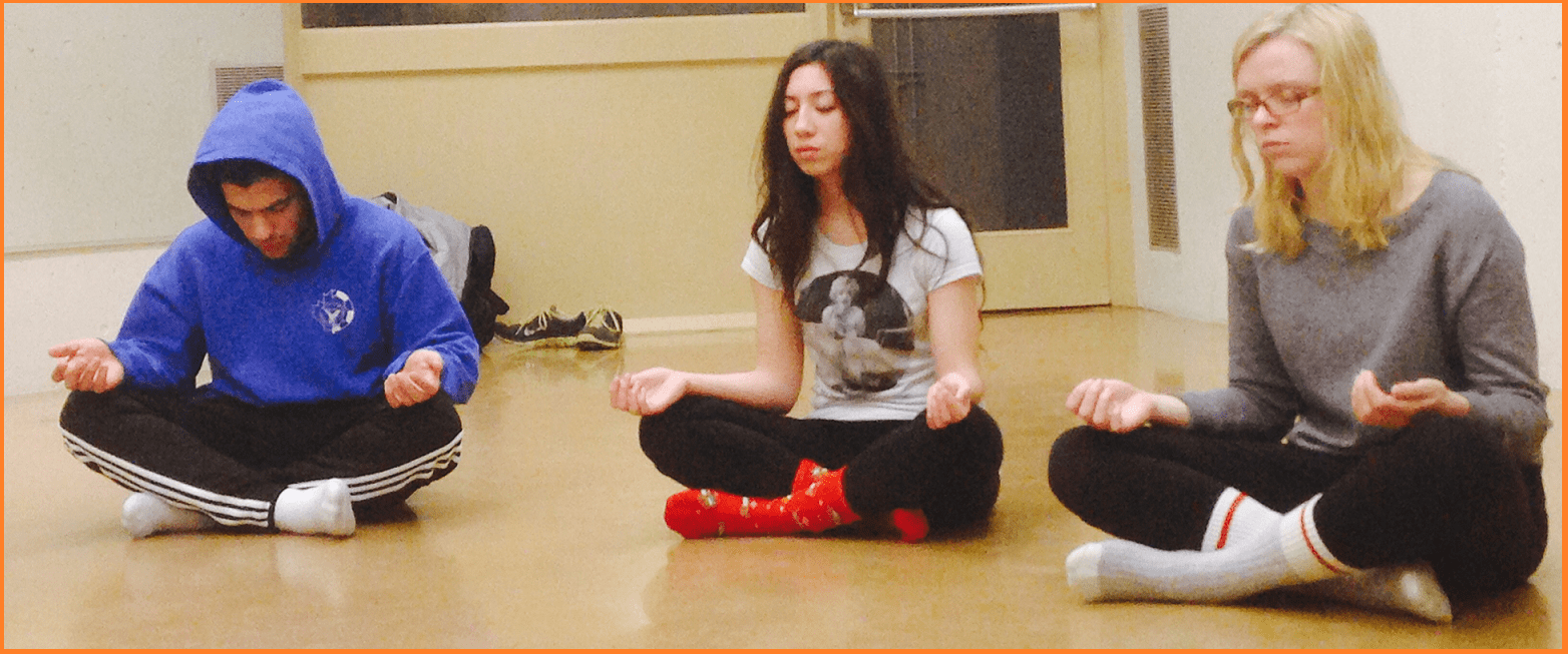 Students  - First time meditators :-)
