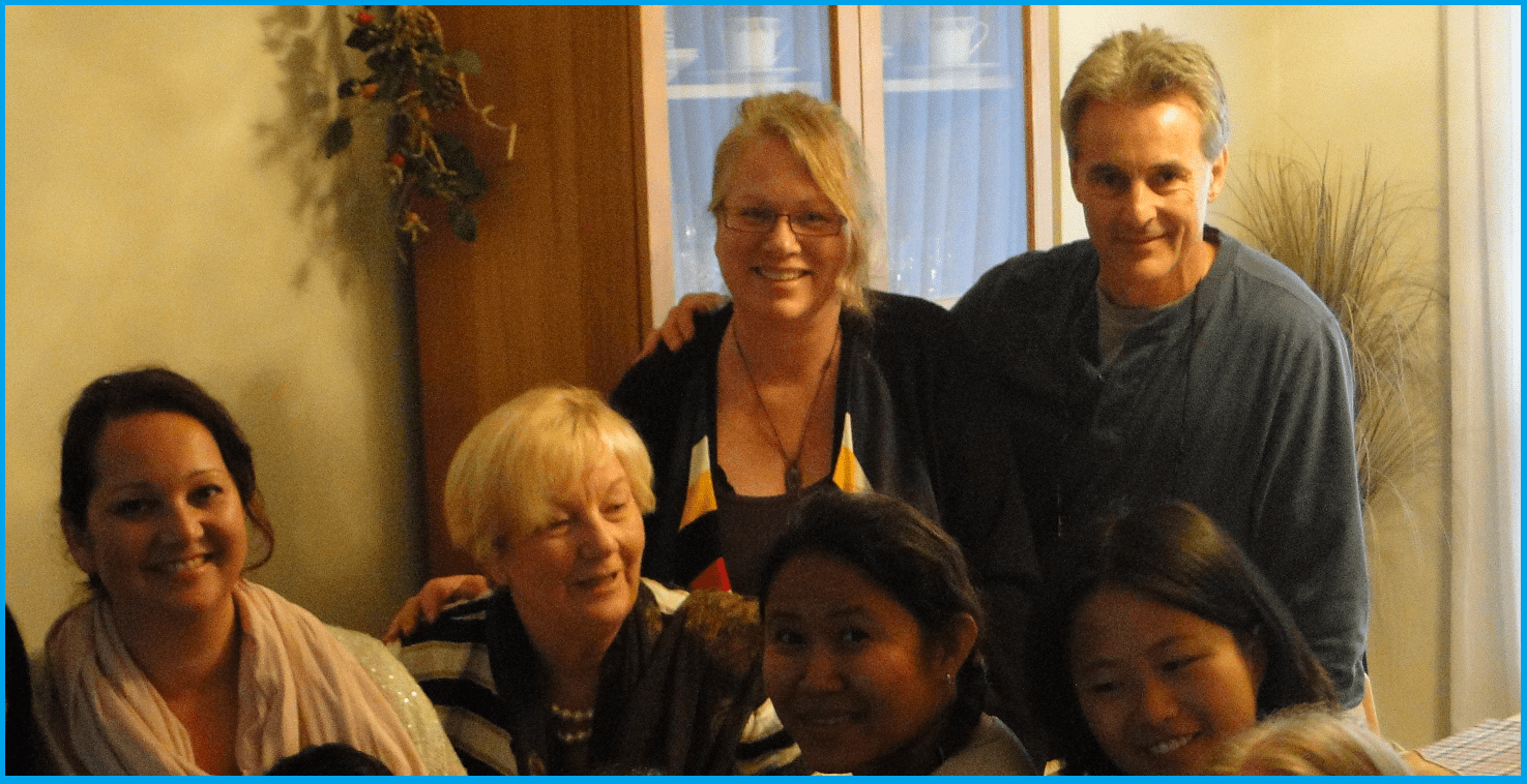 Colleen's Friends and Yogs -  Family from Burlington Sahaja Yoga Meditation Class