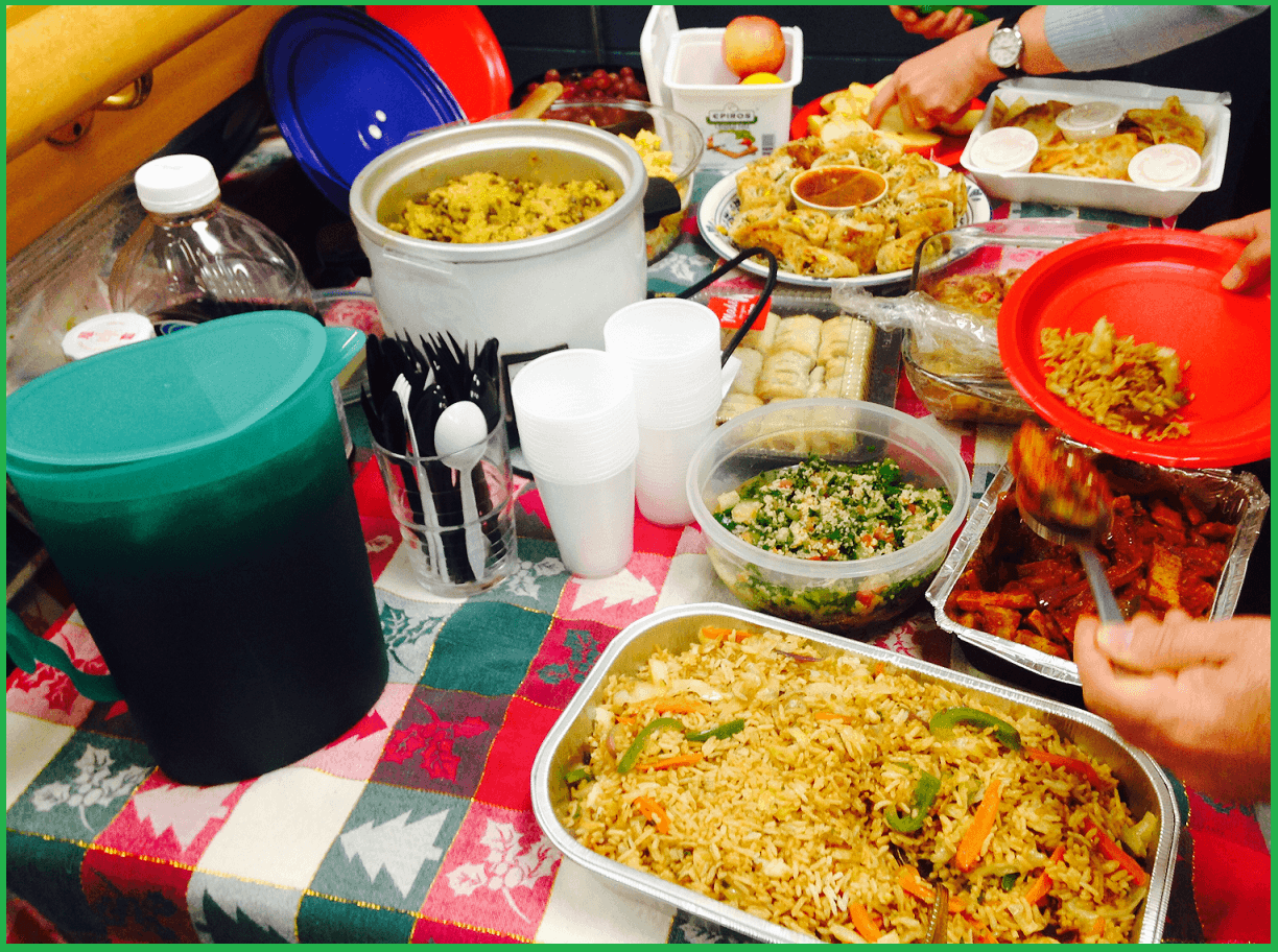 Potluck @Oakville Sahaja Yoga Class - Christmas celebration