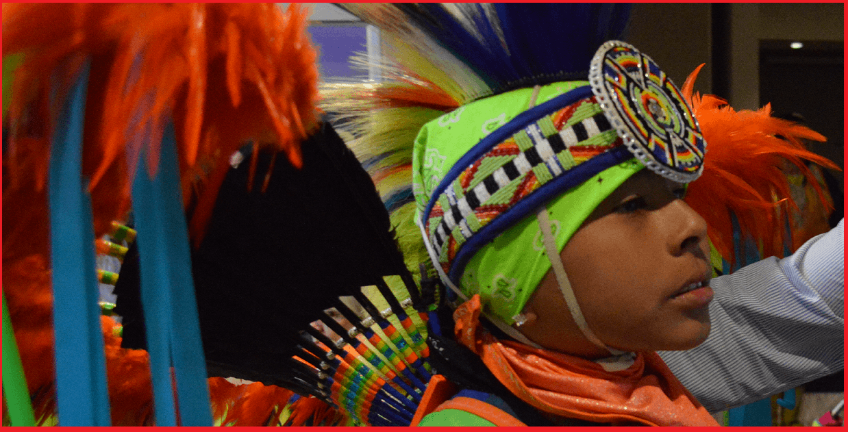 Young native Indian Dancer at Western Uni