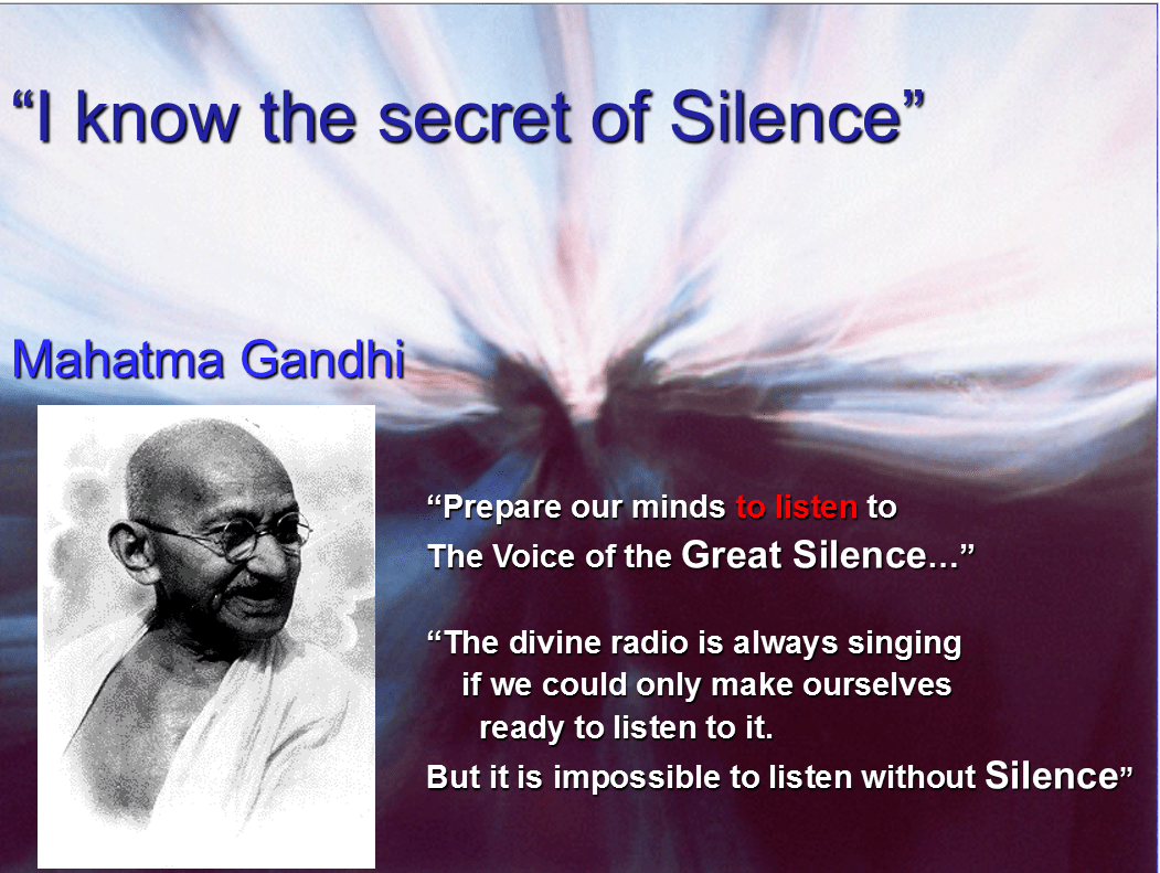 Gandhi about Silence