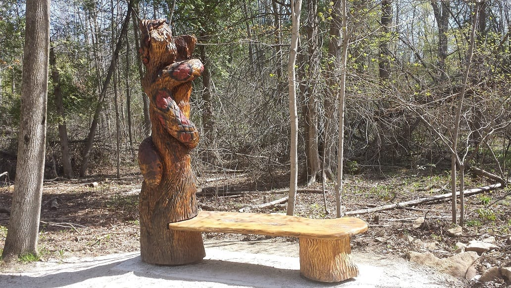 Kundalini serpent energy - aboriginal scuplture at Crawford Lake