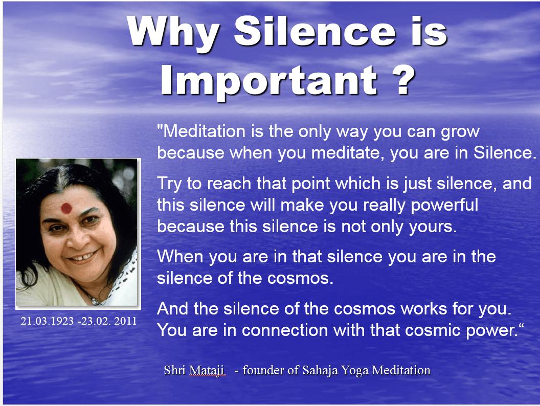 Shri Mataji about Silence
