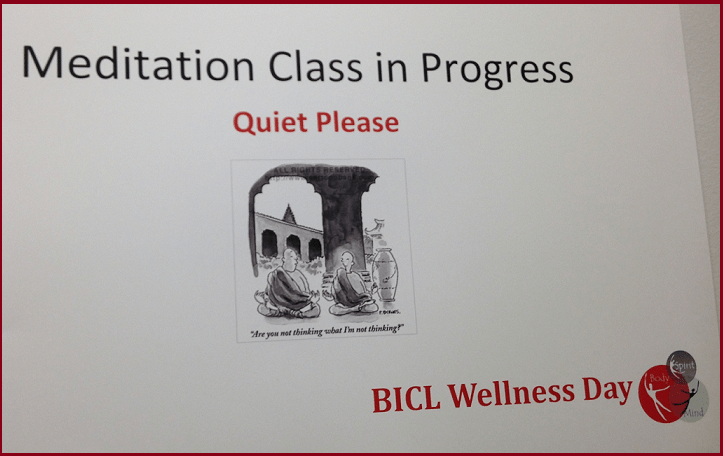 Sign at BICL Event