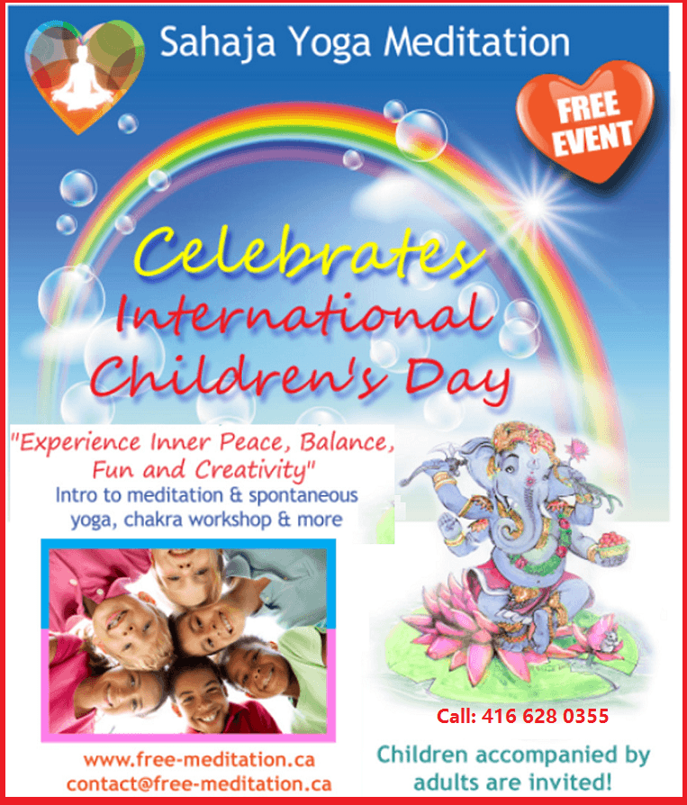 Children international Day - June 1st Celebrated by sahaja Yoga meditation