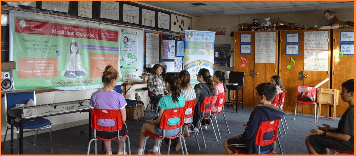 Sahaja Yoga Meditation - Inner peace class at Wellness fair Brookville Milton School