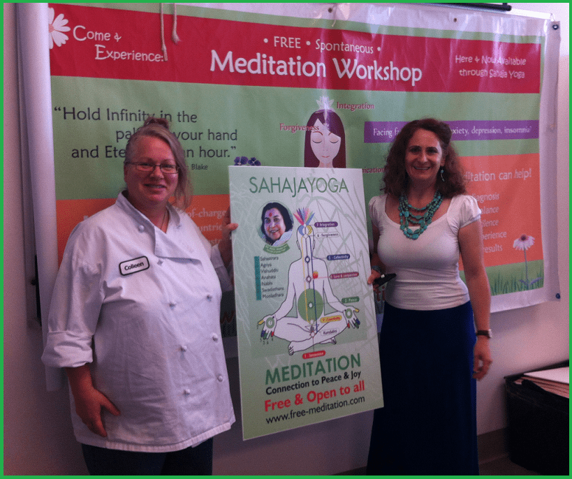 Colleen - IKEA employee and Ioana - sahaja yoga meditation volunteer instructor