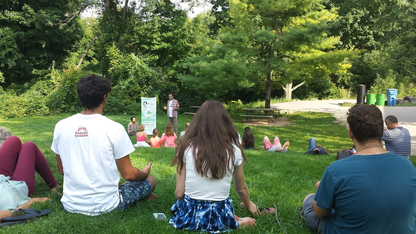 Meditation at Crawford Lake with Realize Canada Youth Tour 2015