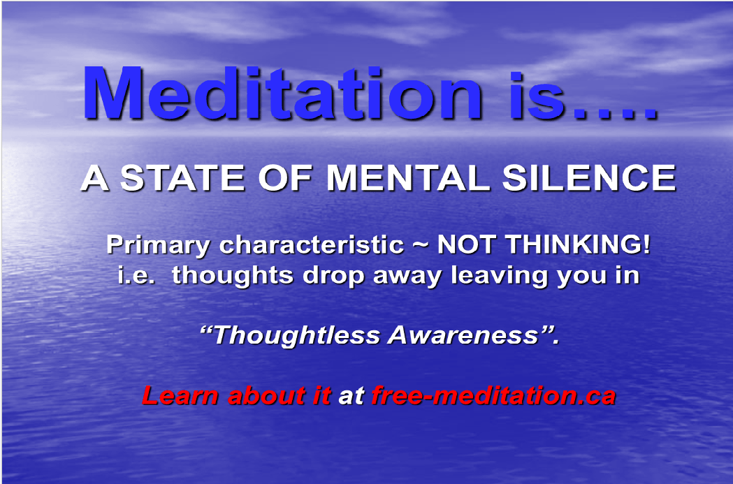Meditation is a State of Silence
