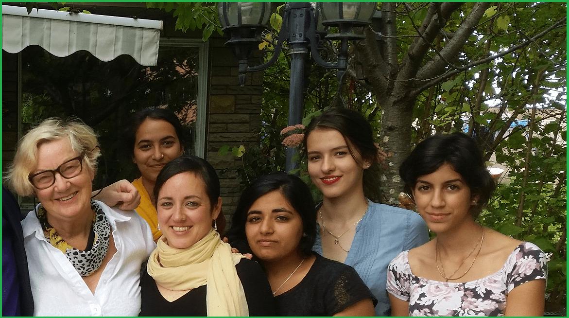 Carmela with ON yuvas and Marie-Joelle - SEPT 2015