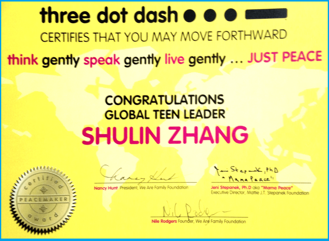 Three Dot Dash Diploma 2016
