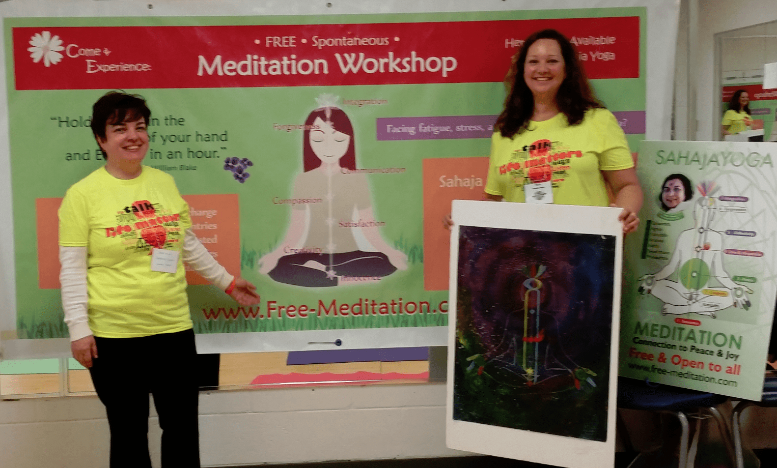 gratiela and Paula from halton Sahaja yoga meditation