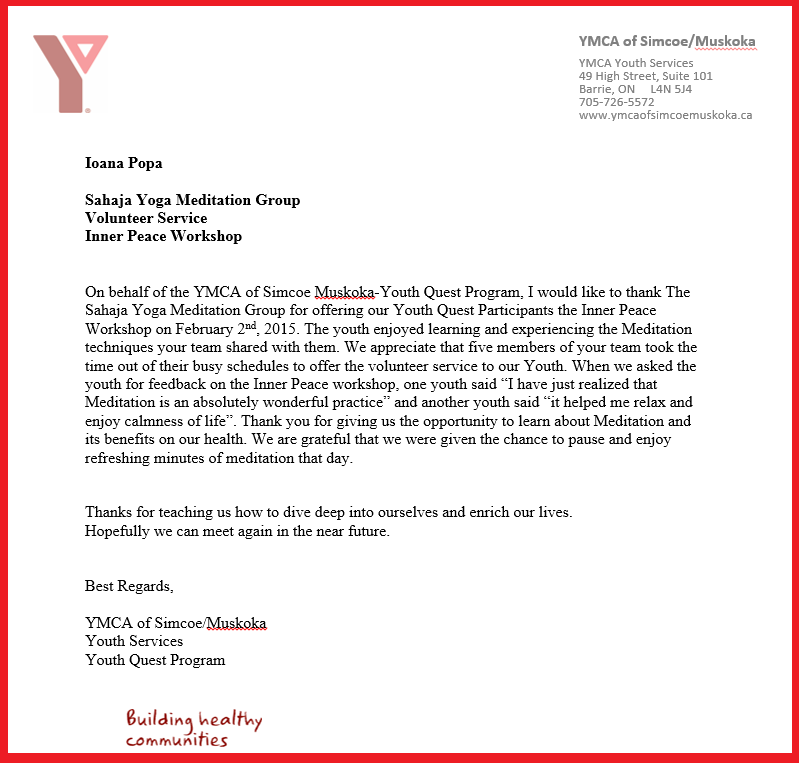 YMCA Youth Quest program - Barrie Muskoka - March 2015